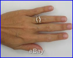 Vintage 1/3CT Diamond Solitaire Enhancer Guard Wrap Insert Ring 14K Yellow Gold