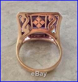 Vintage Color Change Alexandrite Ring 14k Yellow Gold
